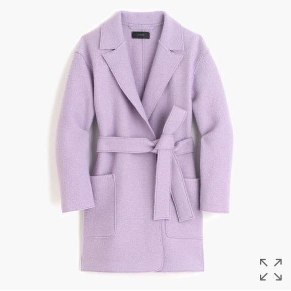 eb0af5e35f276 J. Crew Jackets   Blazers - Brand New J. Crew Purple Wrap Coat in